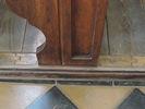 Lavice původní - detail spoje