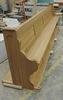 Nová lavice před montáží topných panelů