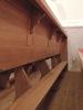 Nová lavice - sklopené klekátko