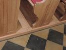 Nové lavice - detail spoje